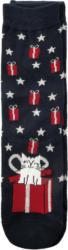 1 Paar Damen Socken mit weihachtlichem Dessin (Nur online)