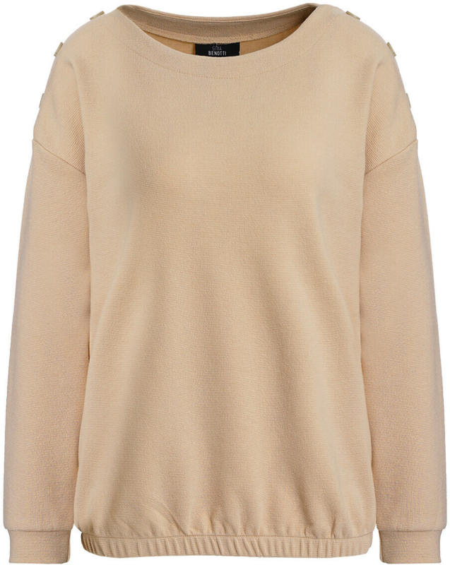 Damen Sweatshirt mit Zierknöpfen (Nur online)