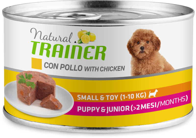 Trainer Hundefutter Natural Small & Toy Puppy & Junior Huhn 150g