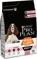 Pro Plan Dog Medium & Large Adult 7+ OPTI DERMA saumon 3kg
