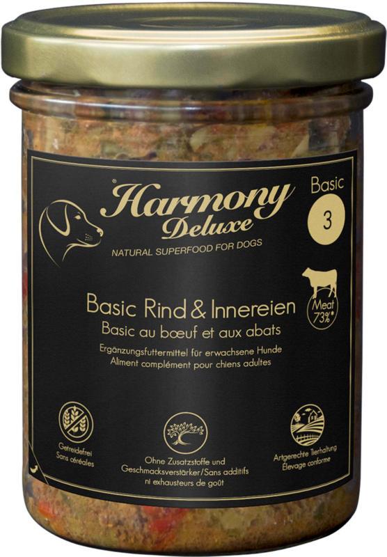 Harmony Dog Deluxe Basic Rind & Innereien 400g