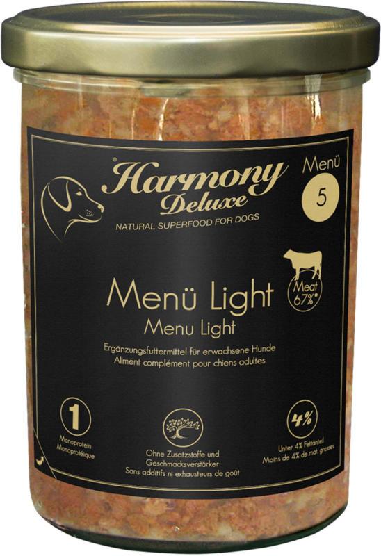 Harmony Dog Deluxe Menü Light 800g