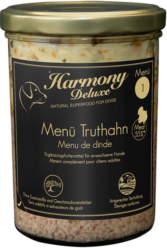 Harmony Dog Deluxe Menü Truthahn 200g