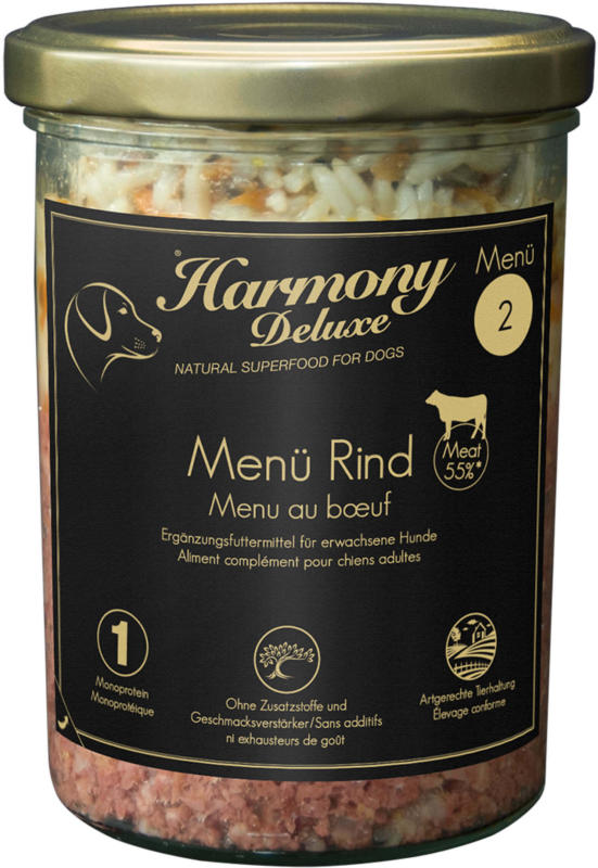 Harmony Dog Deluxe Menü Rind 400g