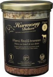 Harmony Dog Deluxe Menü Rind & Innereien 400g