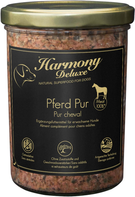 Harmony Dog Deluxe Pur Cheval 400g