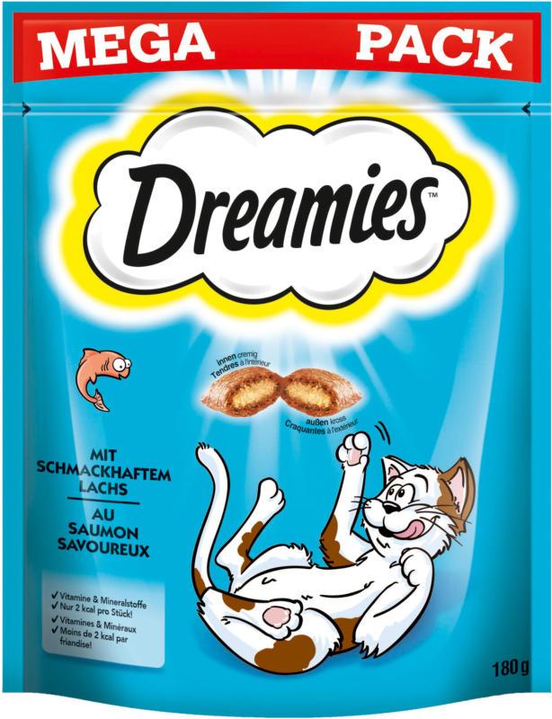 Dreamies Aktion MEGA PACK Dreamies mit Lachs 180g