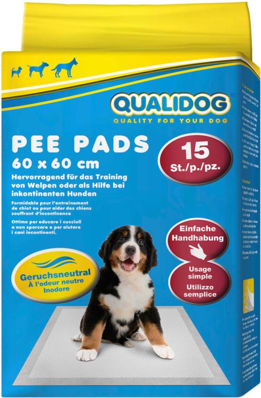 QUALIDOG Puppy Pee Pads odeur neutre 15 pièces