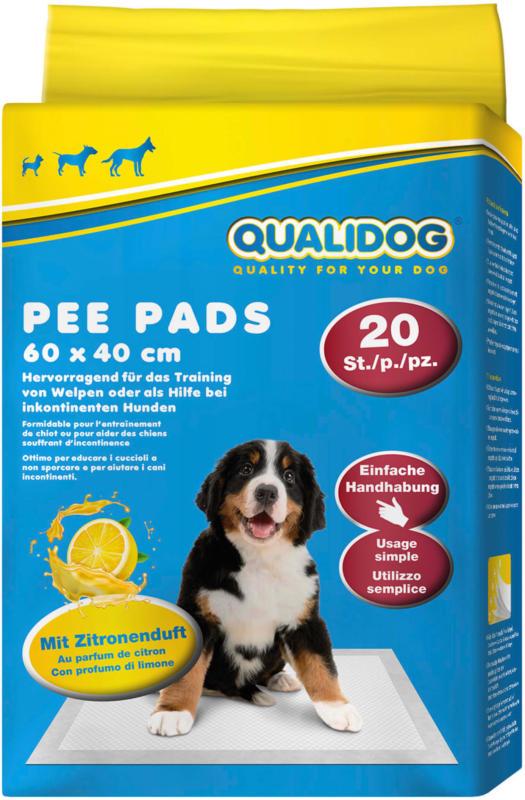QUALIDOG Puppy Pee Pads Zitrone 20 Stück