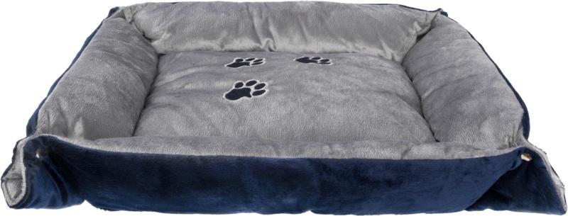 Freezack Katzenbett Pfotendesign blau/grau