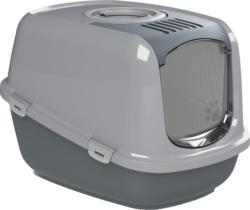Chatnelle Toilettes pour chat EcoDome avec couvercle & grille, grises