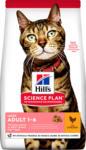 QUALIPET Hill's Katze Science Plan Katze Adult Trockenfutter Light Huhn - 10kg