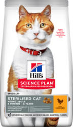 Hill's Katze Science Plan Young Adult Sterilised Cat Trockenfutter Huhn - 1.5kg