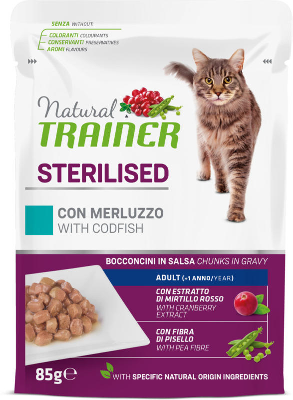 Trainer  Sterilised Kabeljau in Sauce 12x85g Beutel