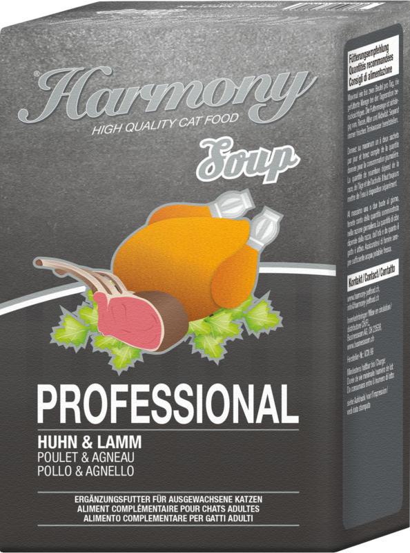Harmony Cat Professional Katzensuppe Huhn & Lamm 12x4x40g