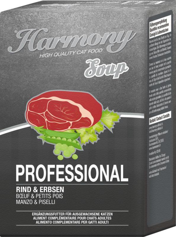 Harmony Cat Professional Katzensuppe Rind & Erbsen 12x4x40g