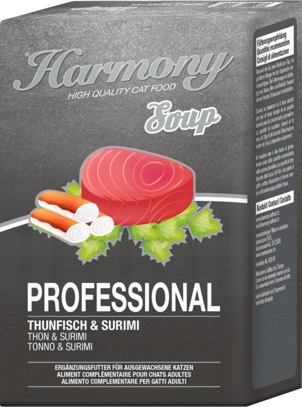Harmony Cat Professional Katzensuppe Thunfisch & Surimi 4x40g