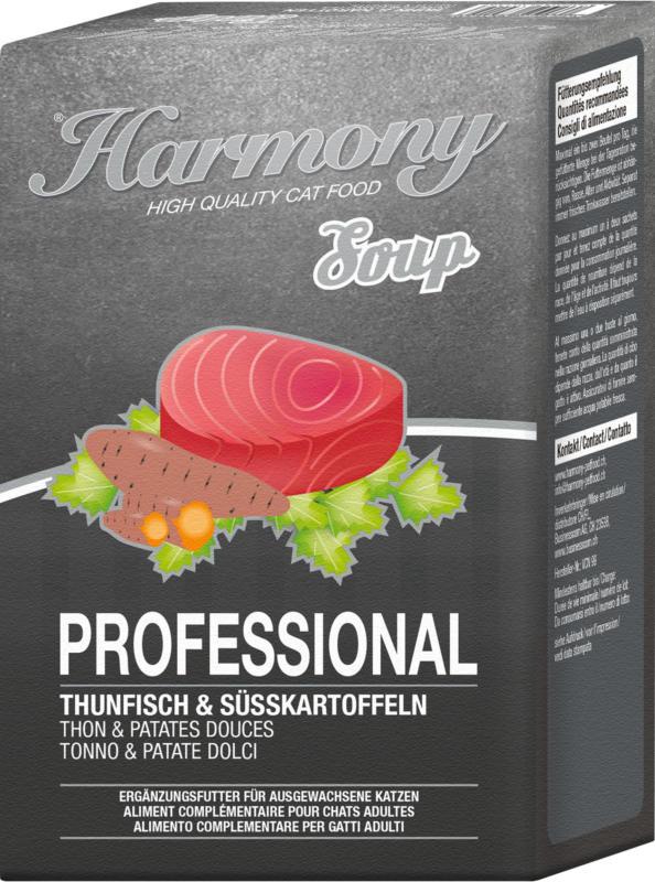 Harmony Cat Professional Katzensuppe Thunfisch & Süsskartoffel 12x4x40g