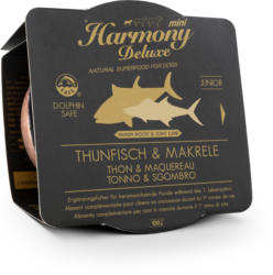Harmony Dog Deluxe Mini Junior Thunfisch & Makrele Nassfutter 100g