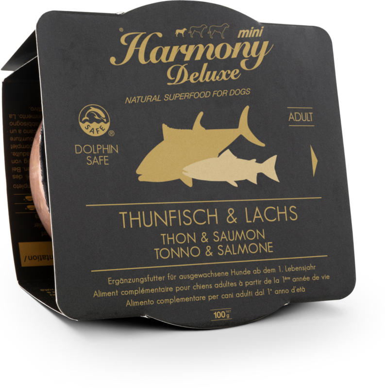 Harmony Dog Deluxe Mini Adult Thunfisch & Lachs Nassfutter 100g