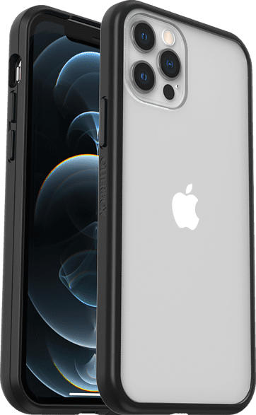 OTTERBOX React  , Backcover, Apple, iPhone 12 / 12 Pro, Polycarbonat, Kunststoff, Transparent/Schwarz