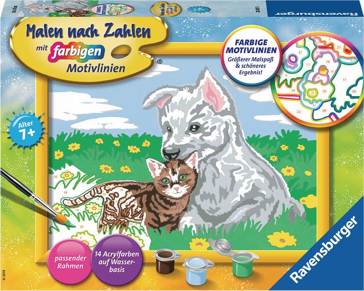 RAVENSBURGER Süße Tierkinder Malset, Mehrfarbig