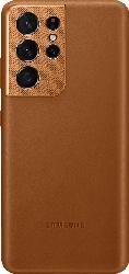 SAMSUNG EF-VG998  , Backcover, Samsung, Galaxy S21 Ultra 5G, Echtleder, Microfaser, Braun