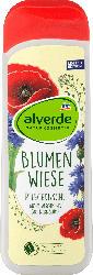 alverde NATURKOSMETIK Duschgel Blumenwiese Bio-Klatschmohn Bio-Kornblume