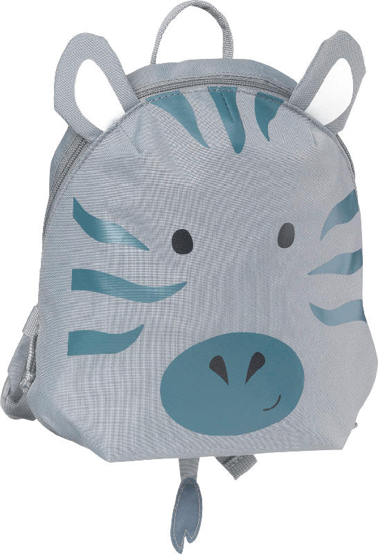 PUSBLU Rucksack Zebra, grau