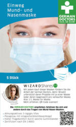 Wizard Medizinische Mundschutzmaske für Erwachsene, Einweg