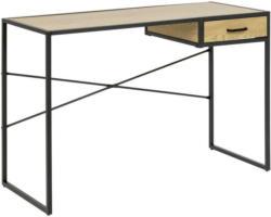 Schreibtisch mit Lade B 110cm H 75cm Seaford Wildeiche Dekor