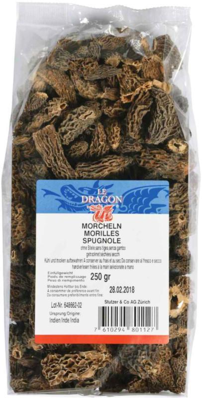 Le Dragon Morcheln getrocknet ohne Stiel 250 g -