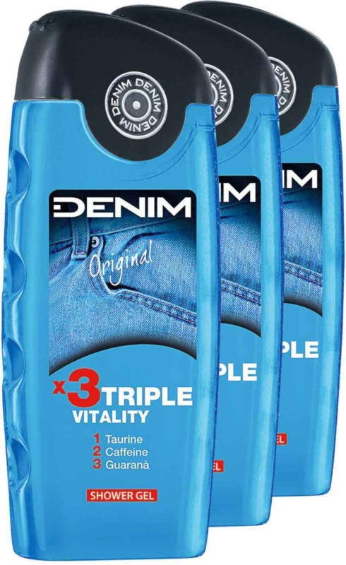 Denim Shower Gel Original 3 x 250 ml -