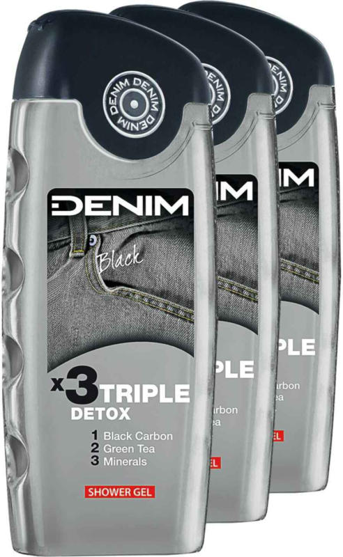 Denim Duschgel Black 3 x 250 ml -