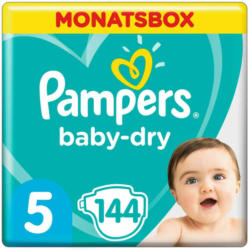 Pampers Baby Dry t. 5, 11-16 kg, conf. mensile, 144 pannolini -