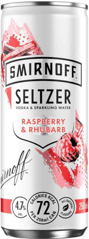 Smirnoff Seltzer Raspberry & Rhubarb 25 cl - 12 Stück