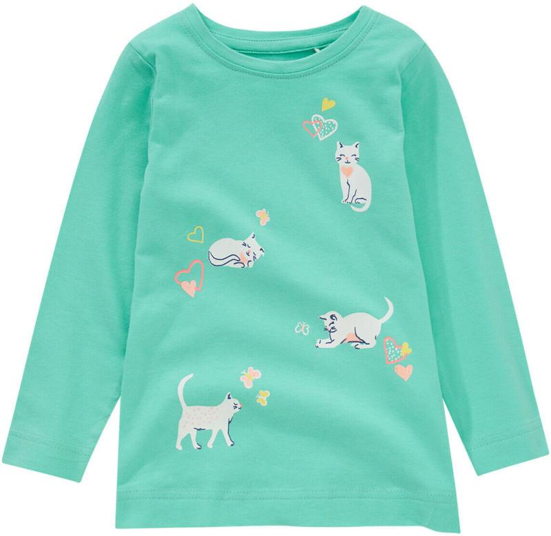 Mädchen Langarmshirt mit Katzen-Print (Nur online)
