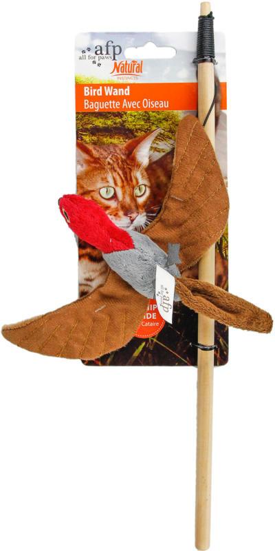 All for Paws AFP Katzenspielzeug Natural Instincts - Katzenangel fliegender Vogel assortiert