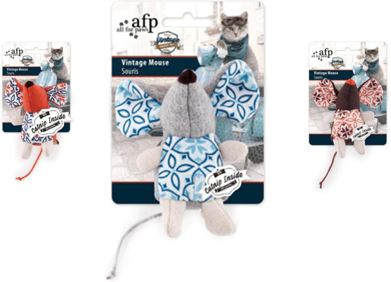 All for Paws AFP Katzenspielzeug Vintage Pet Vintage Mouse