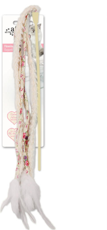 All for Paws AFP Katzenspielzeug Shabby Chic Flowing Streamer Wand