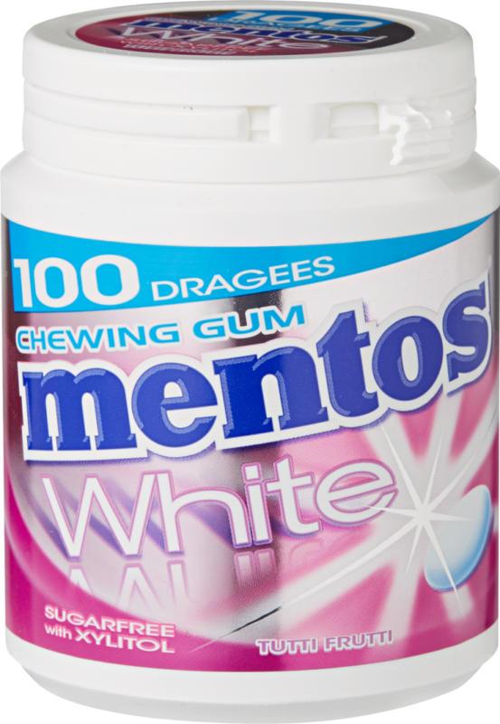 Mentos Gum Bottle White, Tutti Frutti, 150 g
