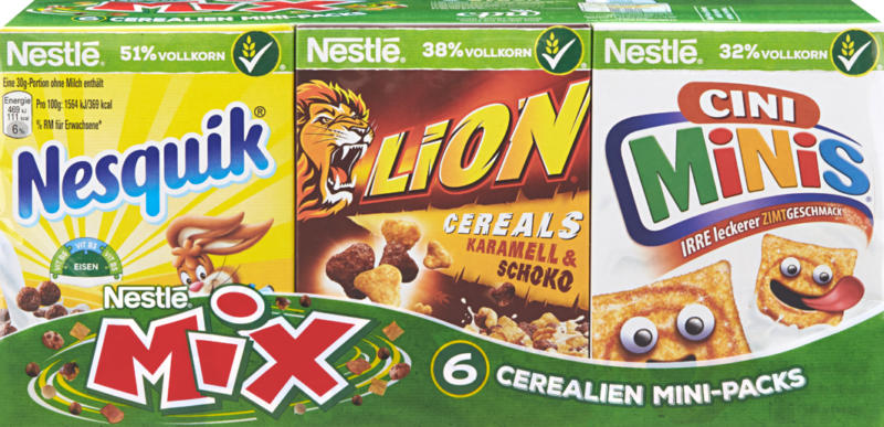 Cereali Mini Packs Mix Nestlé, 190 g