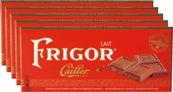Tavoletta di cioccolata Frigor Cailler, Latte, 5 x 100 g