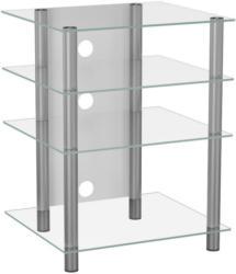 TV-Regal Bilus B: 54 cm Silber, Glas