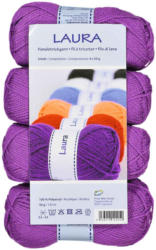 Gründl Handstrickgarn LAURA violett 4 x 50 g -