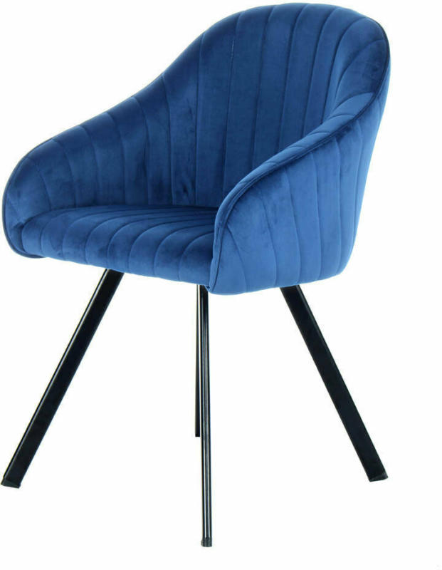 "Stuhl ""Jodie 125"", 2er-Set, dunkelblau"