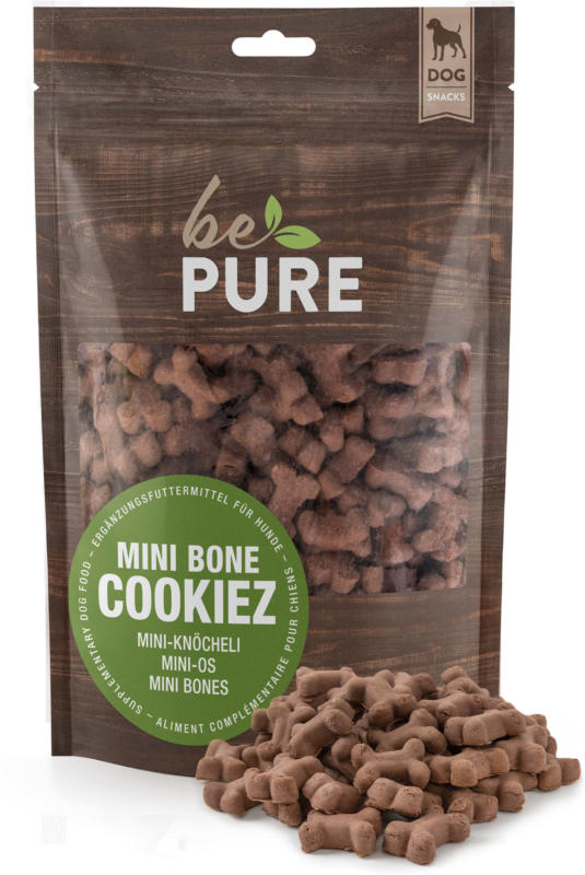 bePure Hundeleckerli Mini Bone Cookiez 600g