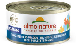 Almo Nature HFC Natural Thunfisch, Huhn & Käse 70g
