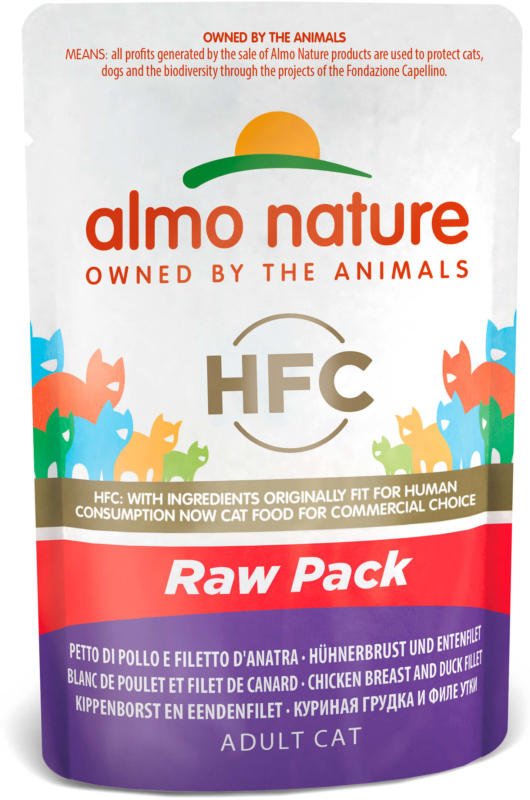 Almo Nature HFC Natural Hühnerbrust & Entenfilet Beutel 24x55g
