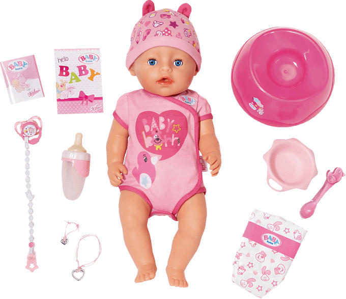 ZAPF CREATION BABY born Soft Touch Girl 43 cm Puppe, Mehrfarbig
